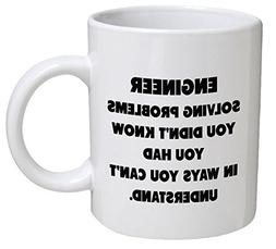 Funny Mug - Engineer. Solving problems - 11 OZ Coffee Mugs -