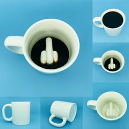 Funny Joke Middle Finger Coffee Cup Big Surprise Ceramic Mug