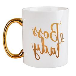 Funny Lady Gifts Gold Foil Boss Lady Mug Pretty Coffee Mug f