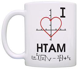 Funny Math Mug I Love Math Heart Graph Calculus Algebra Math