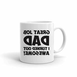 Funny Mugs for Dad for Father's Day, 11 oz. Ceramic Funny Mu