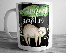 Funny Quote SLOTH Mug 11 oz Cute Animal Coffee Cup Office Gi