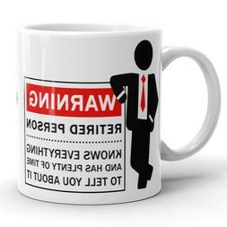 Funny Retirement Coffee Mug for Men Male Teacher Coworker Bo