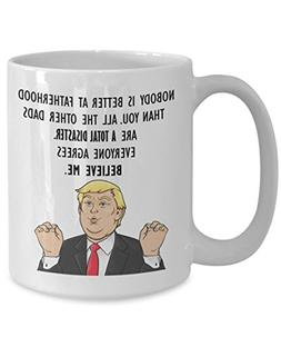 Funny Trump Head Mug - Donald Trump Coffee Cup - President F
