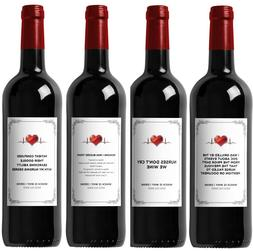 Funny Wine Labels for Nurses - Great Gift for Graduation - I