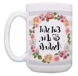 Gag Gifts for Women Floral Swear Mug Mean Humor Funny 15oz C
