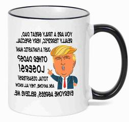 Gift for DAD, Donald Trump Great DAD Funny Mug Fathers Day G