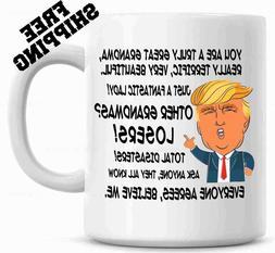Gift for GRANDMA, Donald Trump Great Grandma Funny Mug