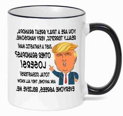 Gift for GRANDPA, Donald Trump Great GRANDPA Funny Mug