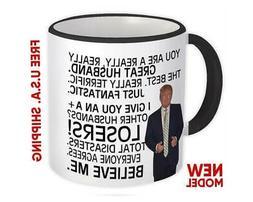 Gift for HUSBAND : Donald Trump Great Husband Funny Mug Fath