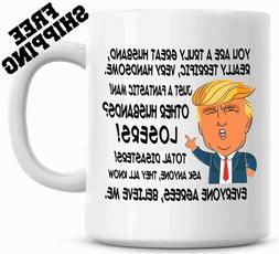 Gift for HUSBAND, Donald Trump Great HUSBAND Funny Mug