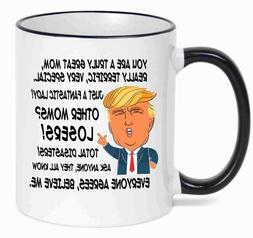 Gift for MOM, Donald Trump Great MOM Funny Mug Christmas Gif