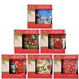 Gift-Boxed Christmas Holiday Mug, 12 oz, Design assorted amo