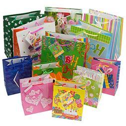 12pc Gift Bags Set Birthday Valentines Easter Halloween Bulk