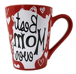 Valentine's Mom Coffee Mug Gifts - Best Mom Ever Ceramic Tea