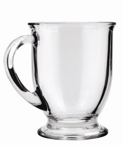 Anchor Hocking 16 Ounce Glass Cafe Mug, Set of 4