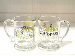 Libbey Glass Coffee Shop Graphics Kava 15.25oz Coffee Mugs -