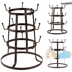 Glass Drying Rack Kitchen Cup Mug Holder Bottle Drainer Tree