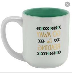 10 Strawberry Street Go Away I'm Reading Coffee Mug 16oz NWO