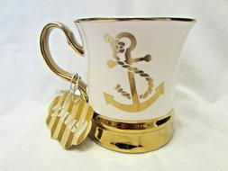 Gold & White Anchor Coffee Mug by 10 Strawberry Street
