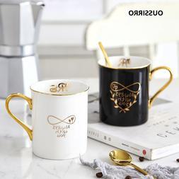 OUSSIRRO Gold Handgrip Ceramics Porcelain <font><b>Coffee</b