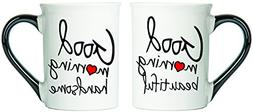 Good Morning Beautiful And Good Morning Handsome Mugs, Set O