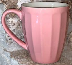 Sweese 14 Ounce Fluted Coffee Tea Mug Gorgeous Baby Pink Rep