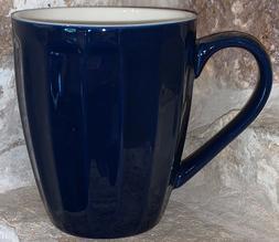 Sweese 14 Ounce Fluted Coffee Tea Mug Gorgeous Navy Blue Rep