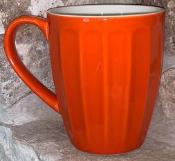 Sweese 14 Ounce Fluted Coffee Tea Mug Gorgeous Orange Replac