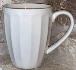 Sweese 14 Ounce Fluted Coffee Tea Mug Gorgeous White Replace