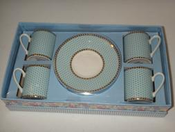 GRACE'S TEAWARE 8-PC Gift Box SET 4 ESPRESSO Mugs Small Coff