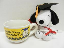 "GRADUATION SNOOPY & COFFEE MUG ~ ""GOOD GRIEF I GRADUATED!"" ~"