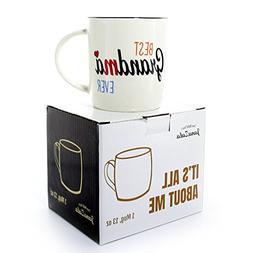 Janazala Best Grandma Ever Mug, Grandma Coffee Mug, Annivers
