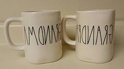 Rae Dunn Grandma & Grandpa Coffee/Tea Mug Set
