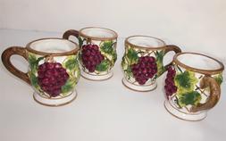 Grape 4 piece Ceramic 12 ounces Mug.