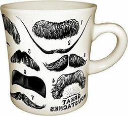 Great Mustaches Mug Twain, Einstein Gift Coffee Cup Unemploy