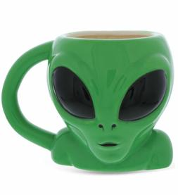 Mugniv Green UFO Alien Novelty Coffee Mug: Ceramic Coffee Mu
