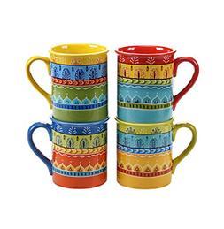 Certified International by Nancy Green Valencia Set of 4 Mug
