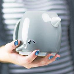 Grey Narwhal Ceramic 3d Coffee Mug Unicorn of the Sea