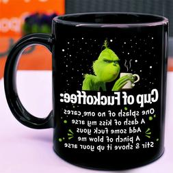 Grinch Cup Of Fuckoffee One Splash No One Cares Gift Black 1