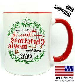 Hallmark Christmas Movie, Watching Mug, Christmas Gift, Red