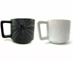 Starbucks Halloween 2019 Skull & Spiderweb Set of 2 Coffee M