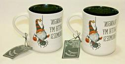 Cobwebs & Cauldrons Halloween Gnomies 18 Oz. Coffee Mugs Set