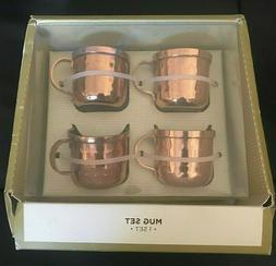 Hammered Moscow Mule Mini Shot Mugs Four Piece Gift Set 1.7