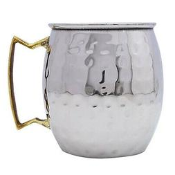 hammered stainless steel moscow mule mug cup