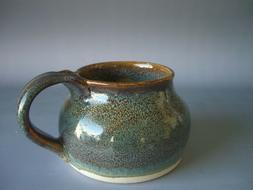 Hand thrown stoneware pottery large travel mug