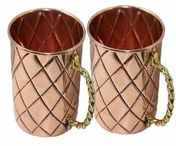 STREET CRAFT Handcrafted Classic Pure Copper Mug Solid Mosco