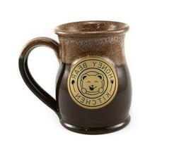 handmade tall belly stoneware mug 14 oz