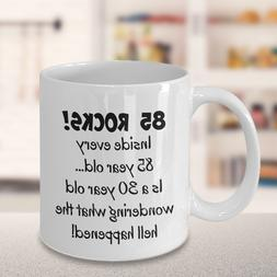 Happy 85 year old 1934 85th birthday gift mug for women or m