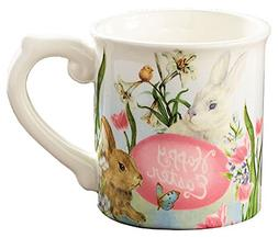 Happy Easter 18 Ounce Ceramic Easter Bunny Coffee Mug/Cup